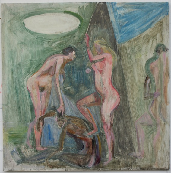 Domestic, 91.5x91.5cm, oil on masonite, 2012