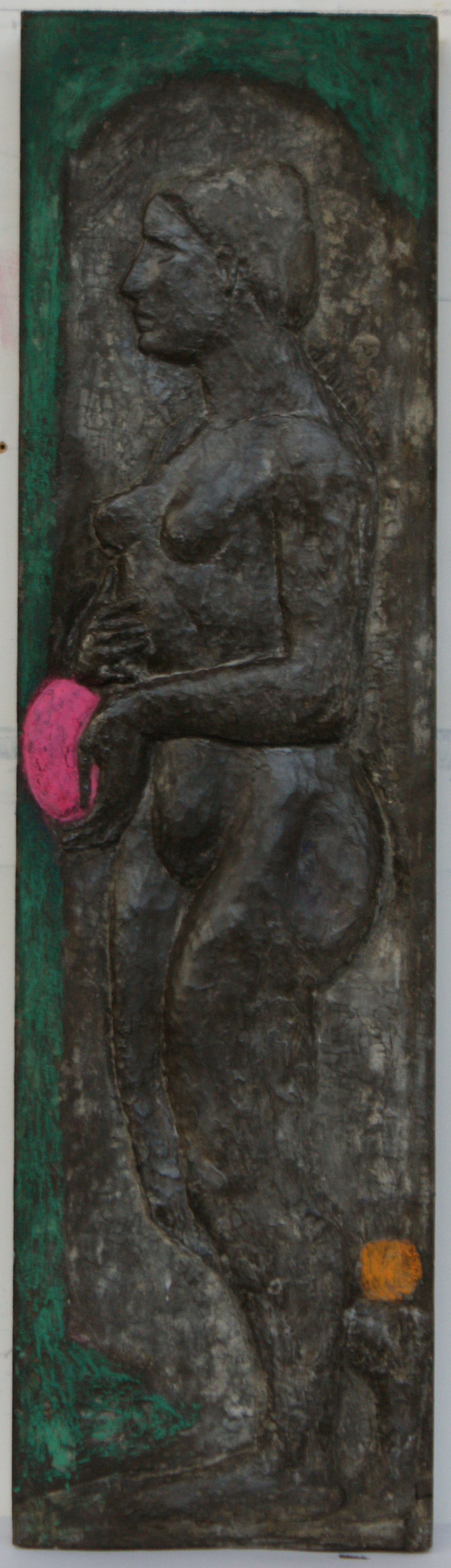 The Gift, bas-relief, cement fondu, 2012