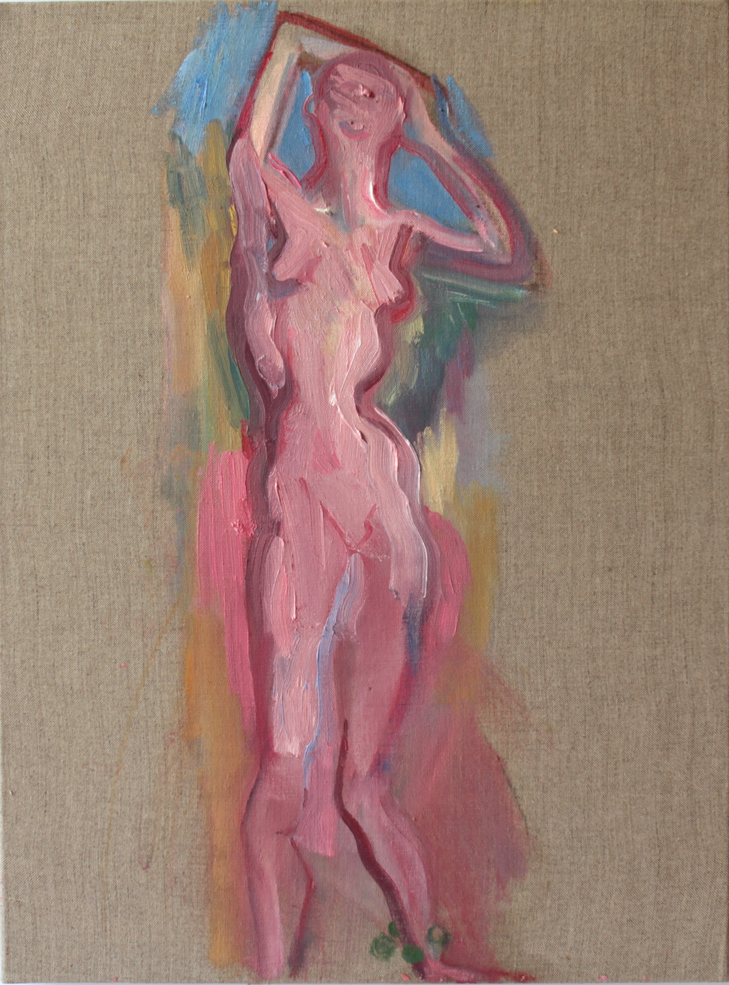 Kore, Oil on linen, 50.4 x 37.8 cm, 2015