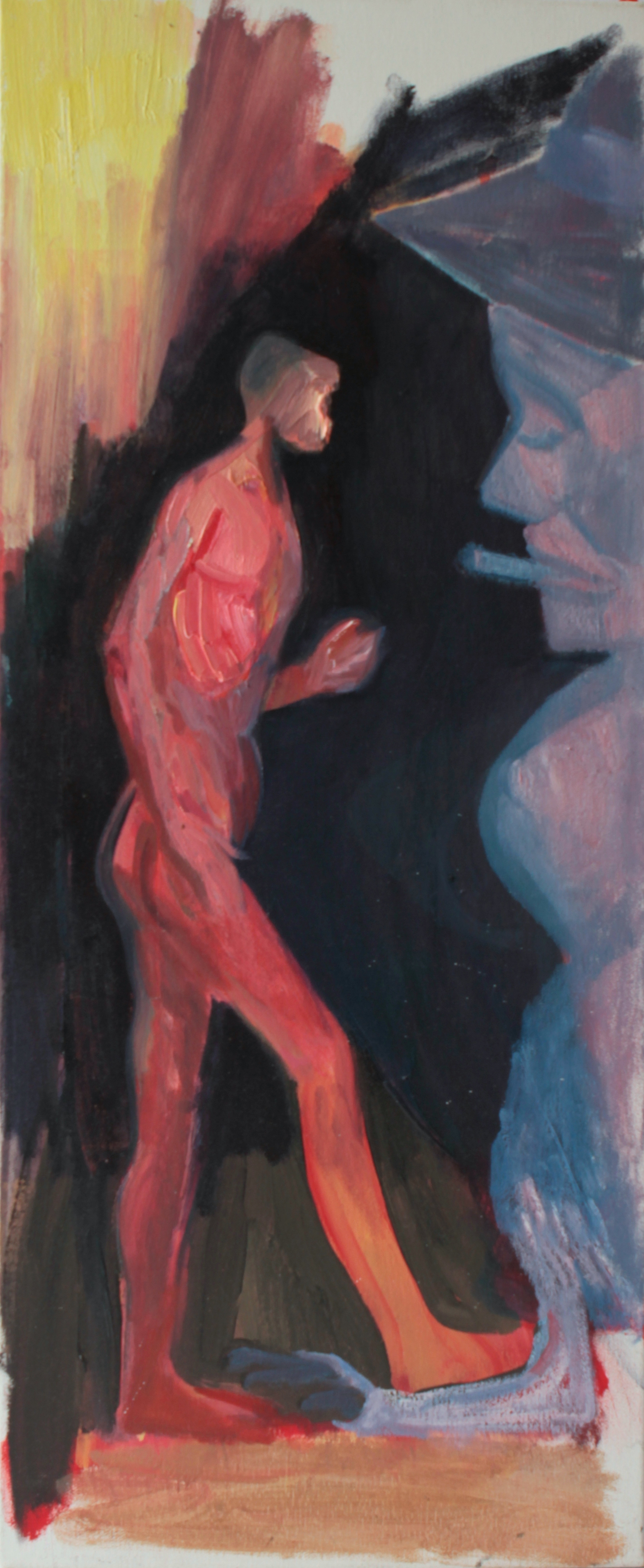 The Oedipus Case, Oil on linen, 91 x 38 cm, 2014