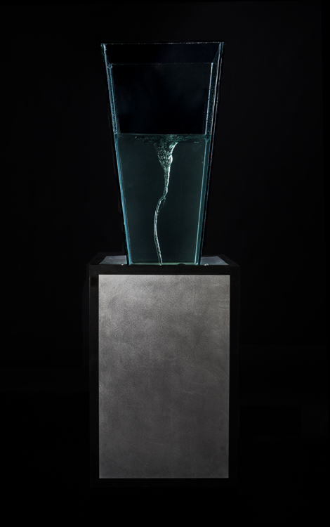 "Drain Water, metal, glass 24"" x 24"" x 84"""