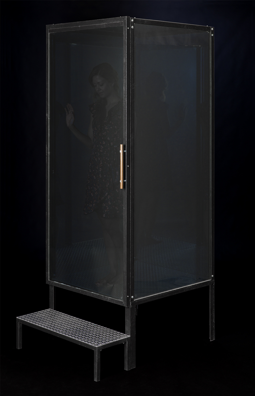 """Untitled Glass, metal 36"""" x 36"""" x 96"""""""