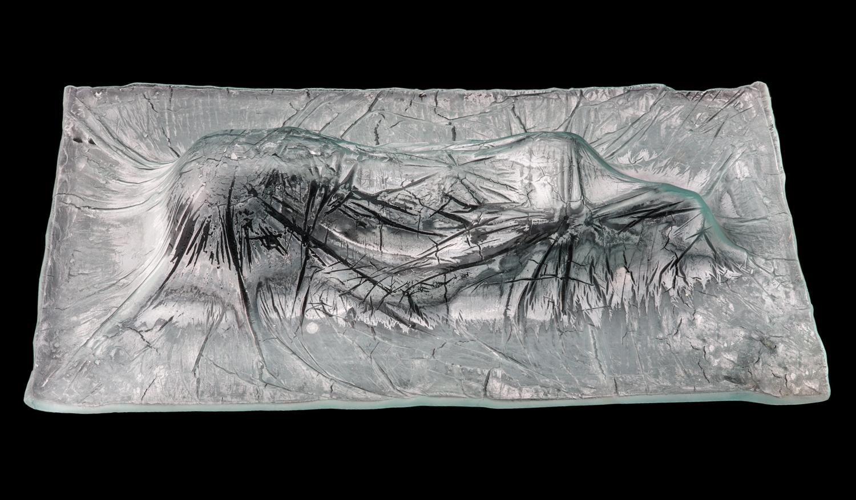 """Shroud Infant Glass 12"""" x 24"""" x 7"""""""
