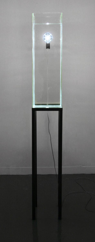 "Drowning light Glass, metal, light 9"" x 9"" x 77"""