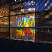 "Diffracted light Ambient light, diffraction grating 79"" x 57"""