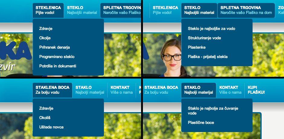 Zgoraj: slovenska spletna stran, spodaj: hrvaška spletna stran.