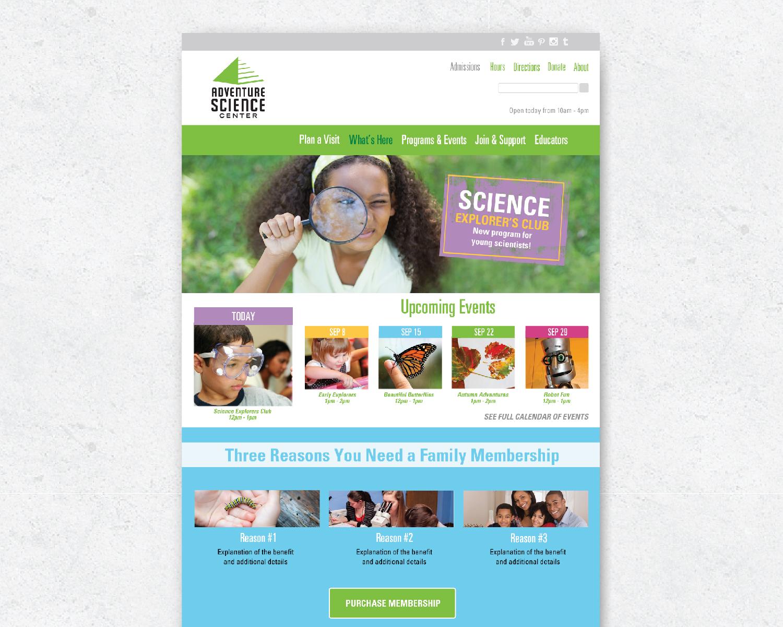 Amy Atkinson Communications Collaboration || Website || Adventure Science Center, AdventureSci.org