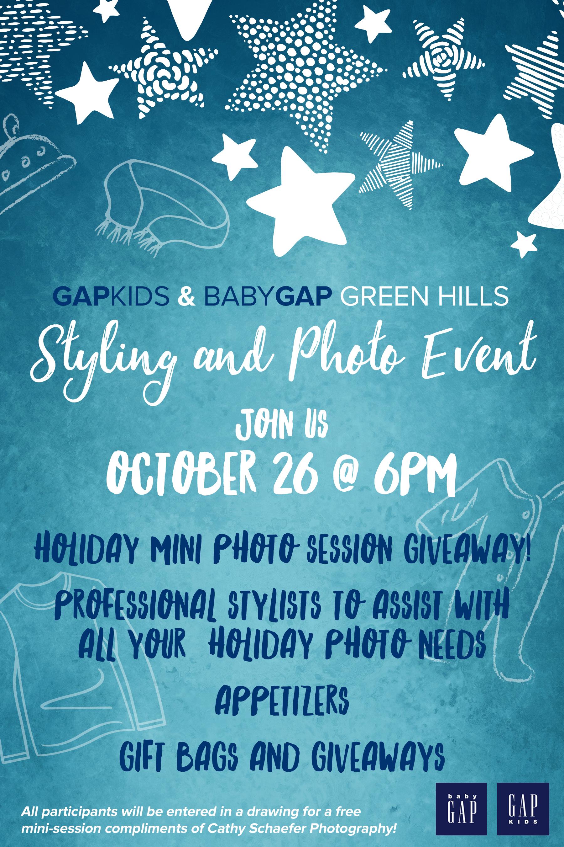 Event Flyer || GapKids, Green Hills Location