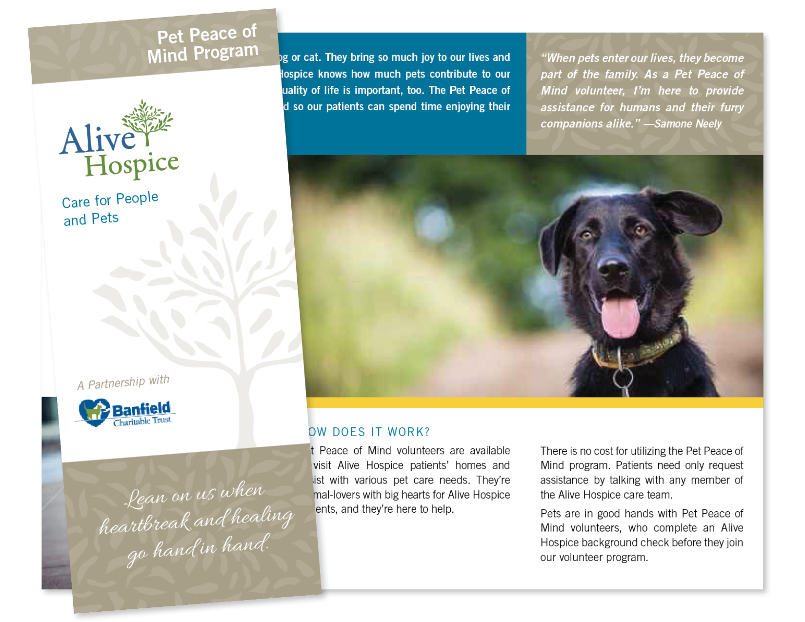Collaboration with Amy Atkinson Communications || Brochure || Alive Hospice
