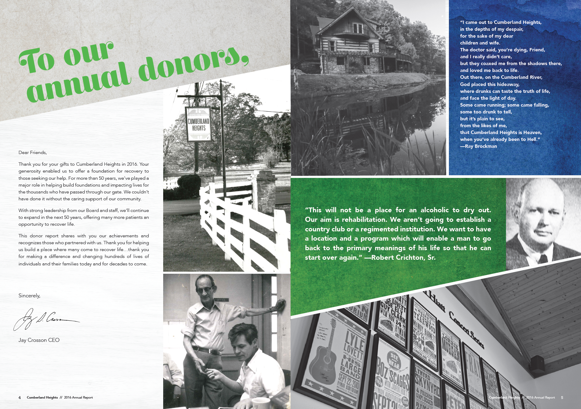 Collaboration with Amy Atkinson Communications || Annual Report || Cumberland Heights