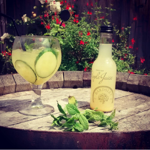 The Stilebridge Pub, local to us in Staplehurst has brought a twist to your ordinary G&T, including our English Apple Juice.    Add Bardsley Farms English Apple juice, cucumber and mint to your G&T for this summery mix - enjoy!