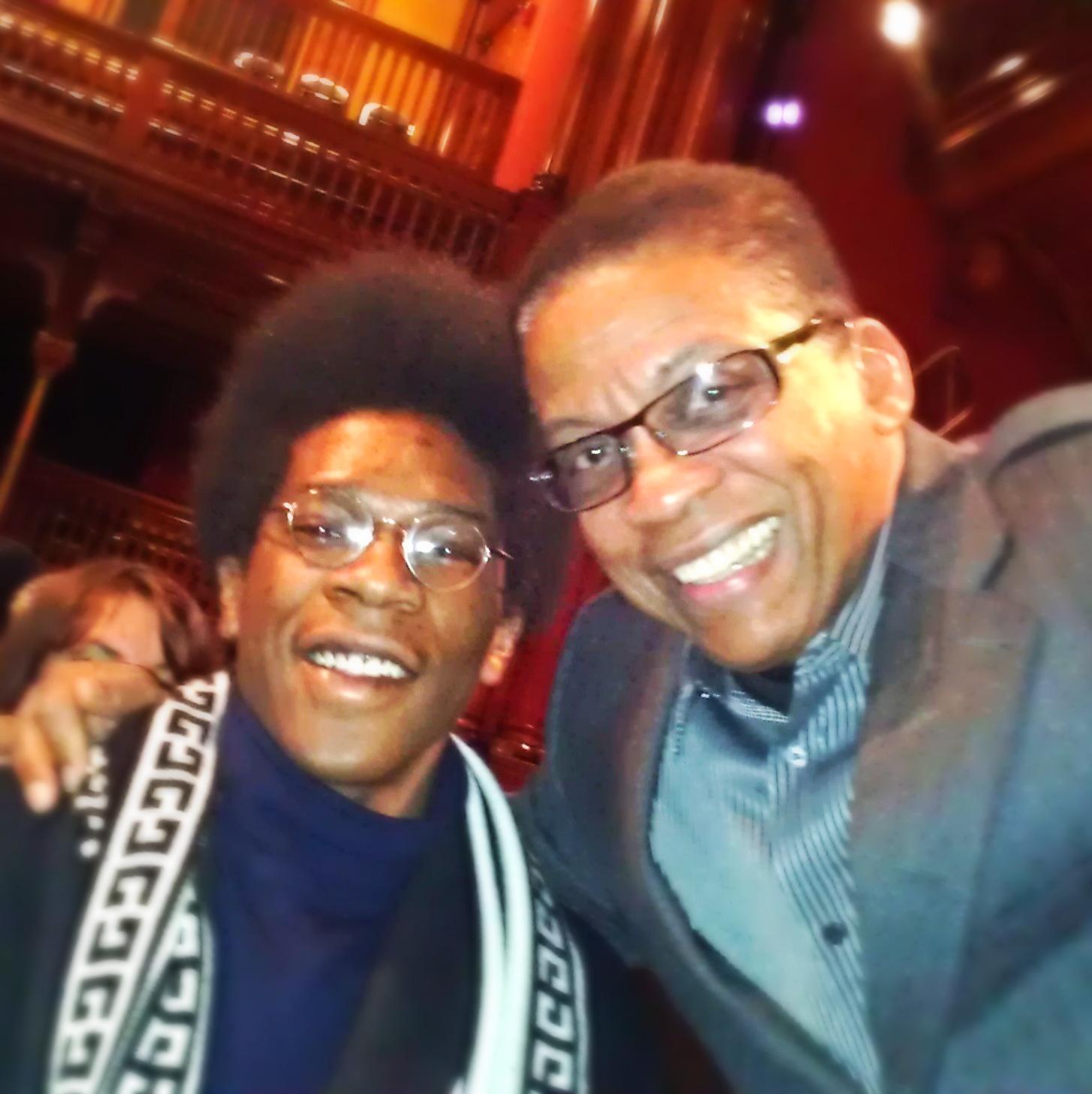 First time I met Herbie Hancock at Harvard.
