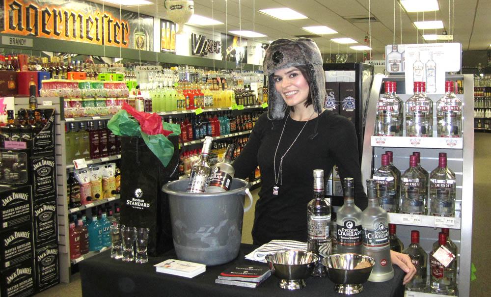 Beauté promotes Russian Standard Vodka at a Virginia ABC store tasting
