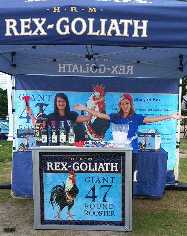 Beauté promotes Rex Goliath Wine during The Neptune Festival in Virginia Beach