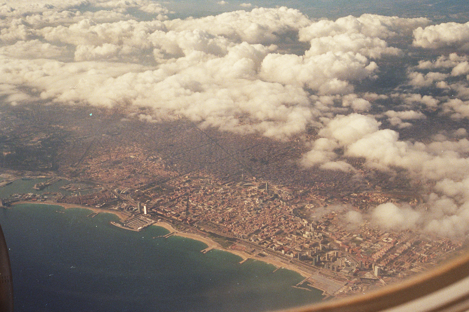 barcelona from air