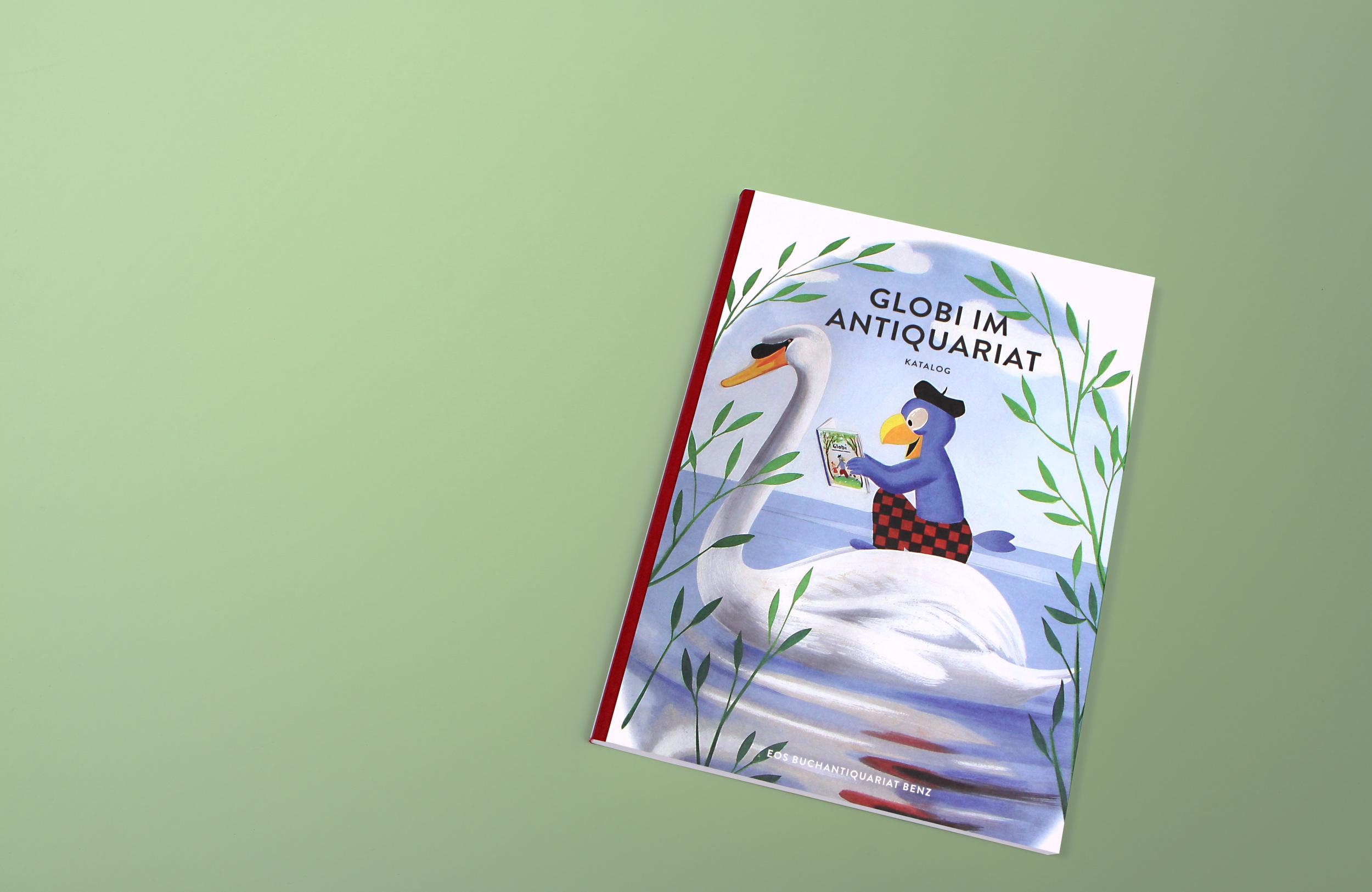 Buchgestaltung Globi im Antiquariat
