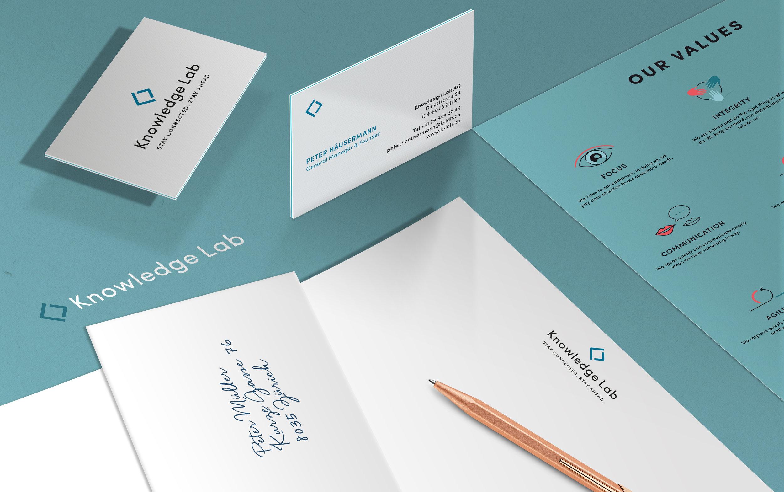 Corporate- und Webdesign Knowledge Lab