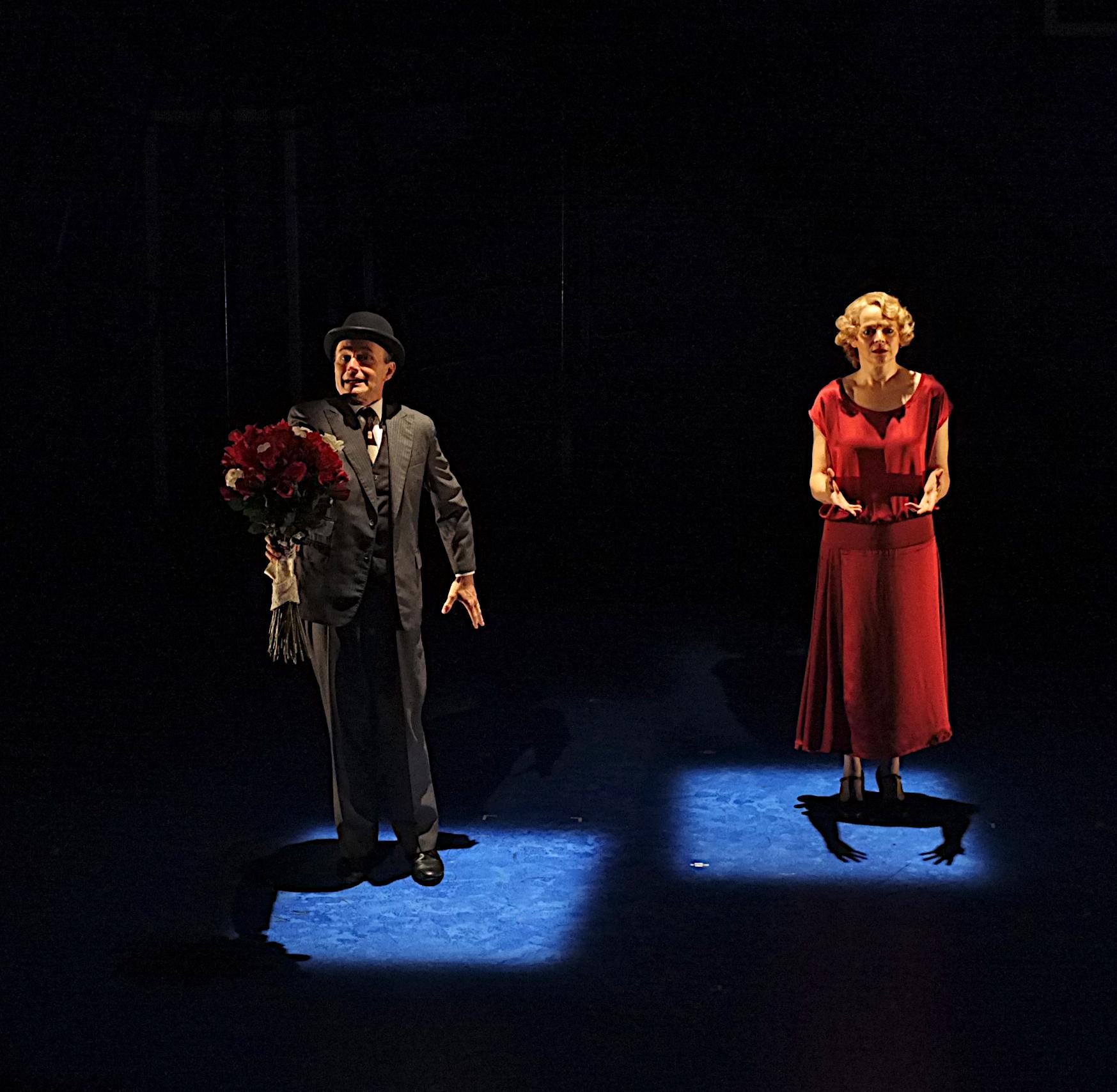 SEPTIMUS AND CLARISSA Henry Stram and Ellen McLaughlin. Photo by Richard Finkelstein.