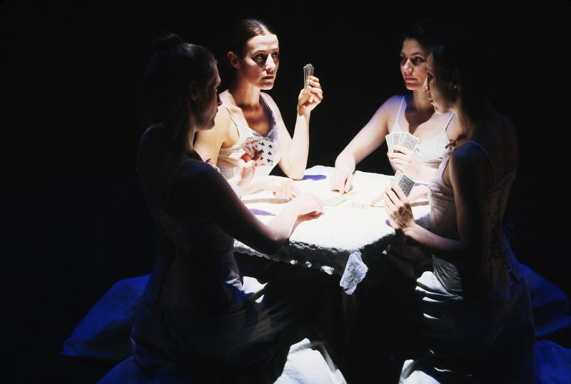 INNOCENTS Clockwise from left foreground: Jill A. Samuels, Erika Latta, Paula McGonagle, Magnolia Santibanez-Nava. Photo by Rachel Dickstein.
