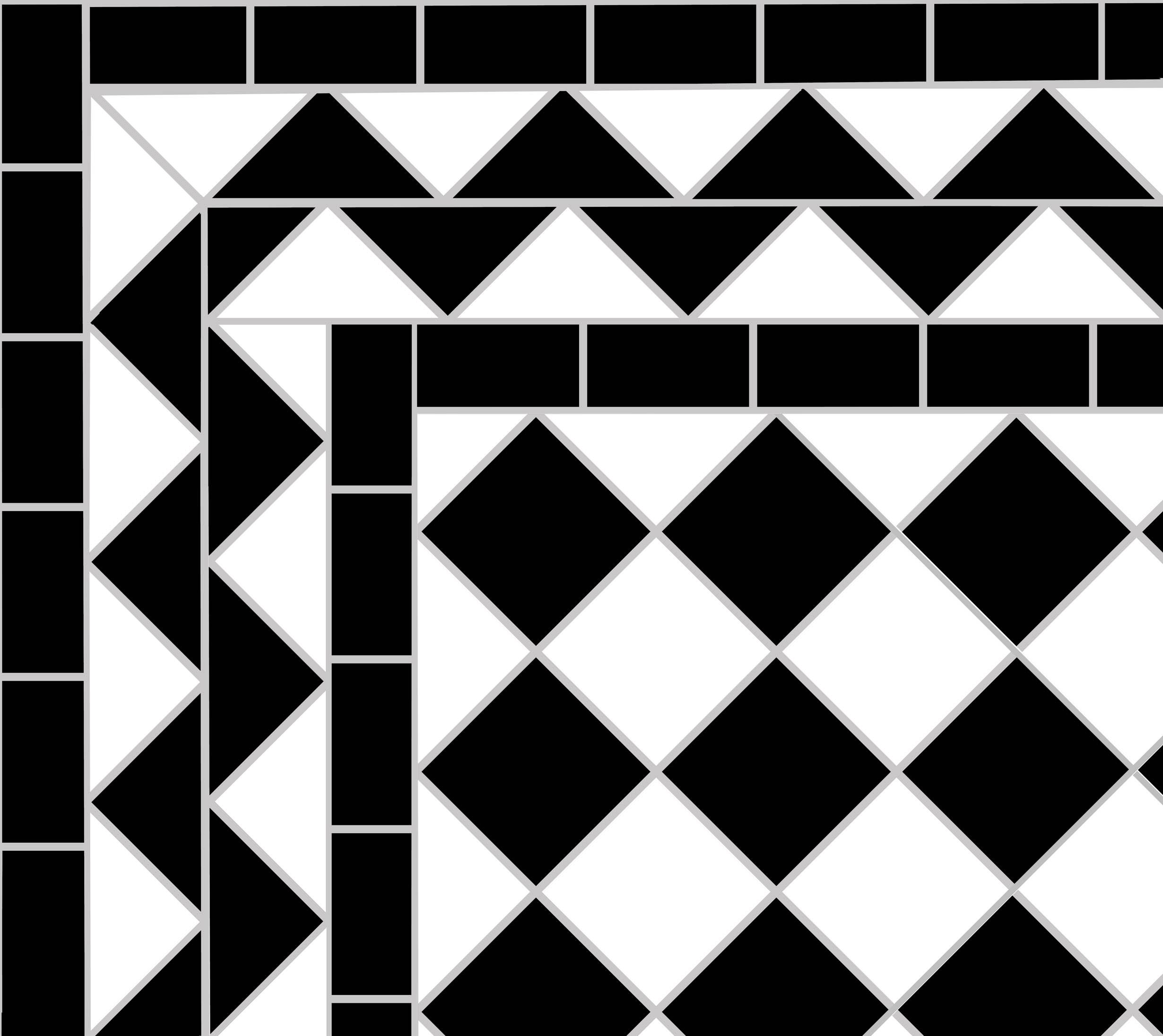 Black & White Victorian Tiles