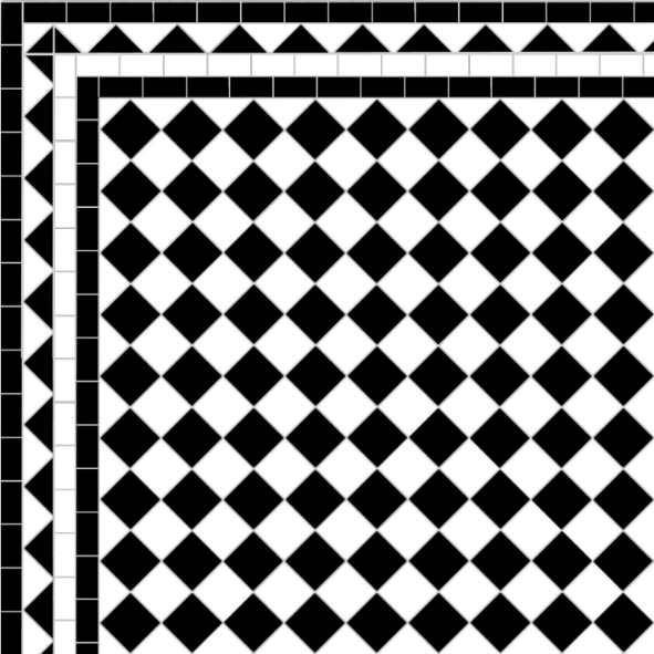Chequer - Dog's Tooth Border
