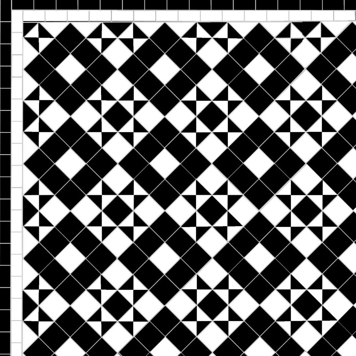 Dark Box & Star - Single Line - black