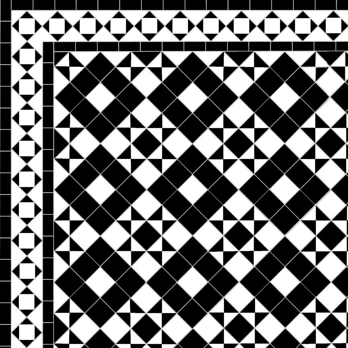 Dark Box & Star - Alma Border - white