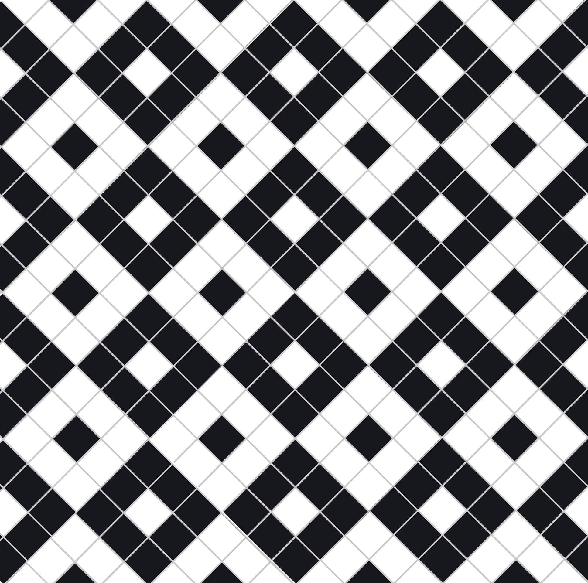 black and white victorian floor tiles