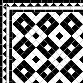 Alternating Boxes - Dog's Tooth Border