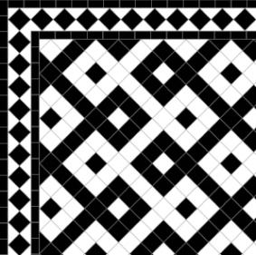 Castell - Diamond Border Black