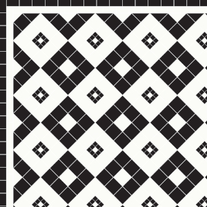 Lyme Regis - £195 2 Line Border - £28/Linear m.  Black & White