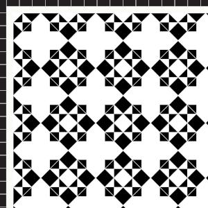 Star & Cross - £215  2 Line Border - 24/Linear m.  Black & White