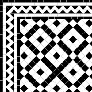 Banded Boxes - ZigZag Border - White