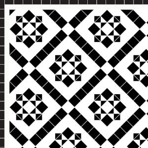 Thornton - £270 2 Line Border - £28/Linear m.  Black & White