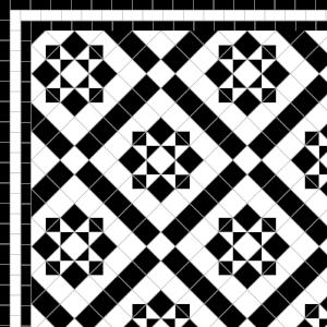 Thornton - £270 3 Line Border - £38/Linear m.  Black & White