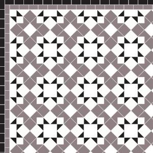 Star & Cross - £285 2 Line Border - £30/Linear m.  Anthracite, Black & White
