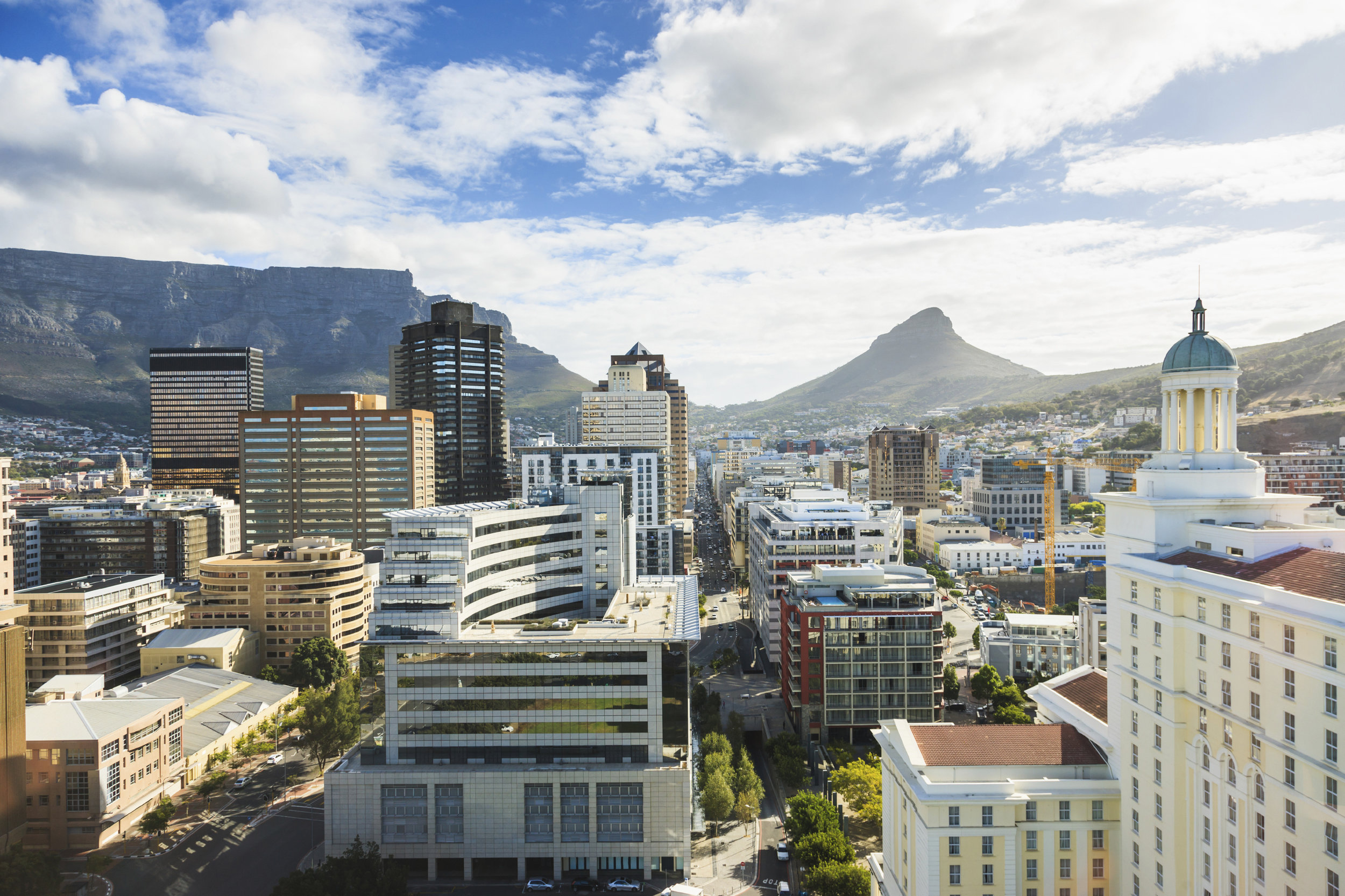Downtown Cape Town, South Africa business district. © Mlenny Photography