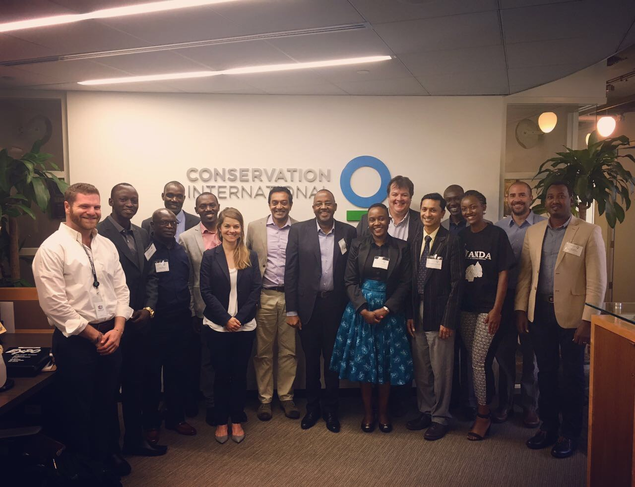 Trip participants with the CEO of Conservation International, at CI's headquarters in Washington D.C.