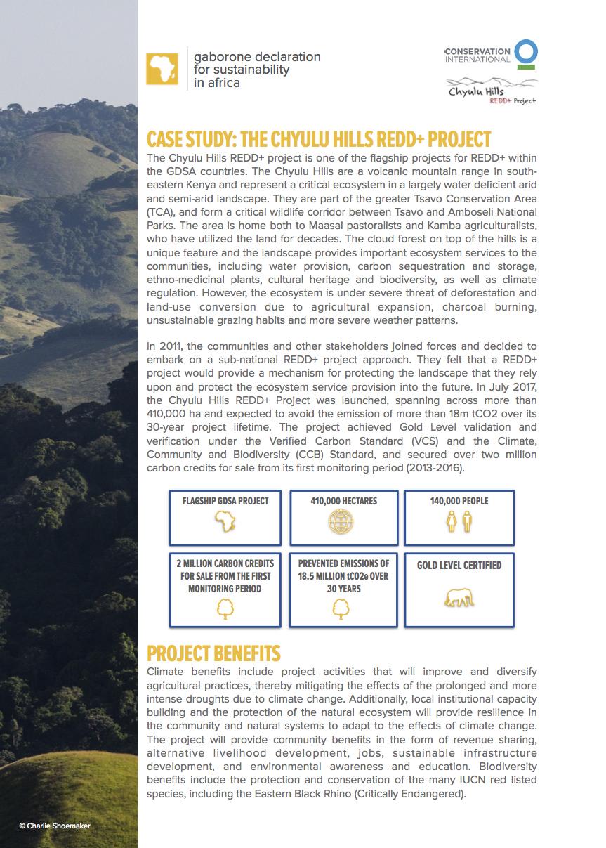 Chyulu Hills REDD+ Case Study