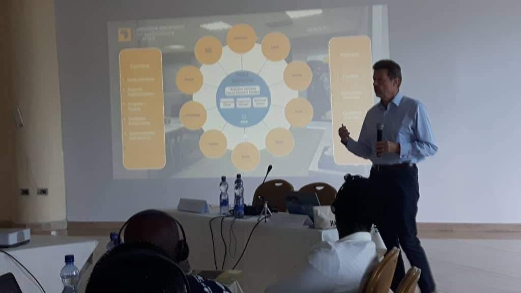 GDSA Executive Secretary Ruud Jansen making his presentation on Natural Capital Accounting to delegates in Addis Ababa