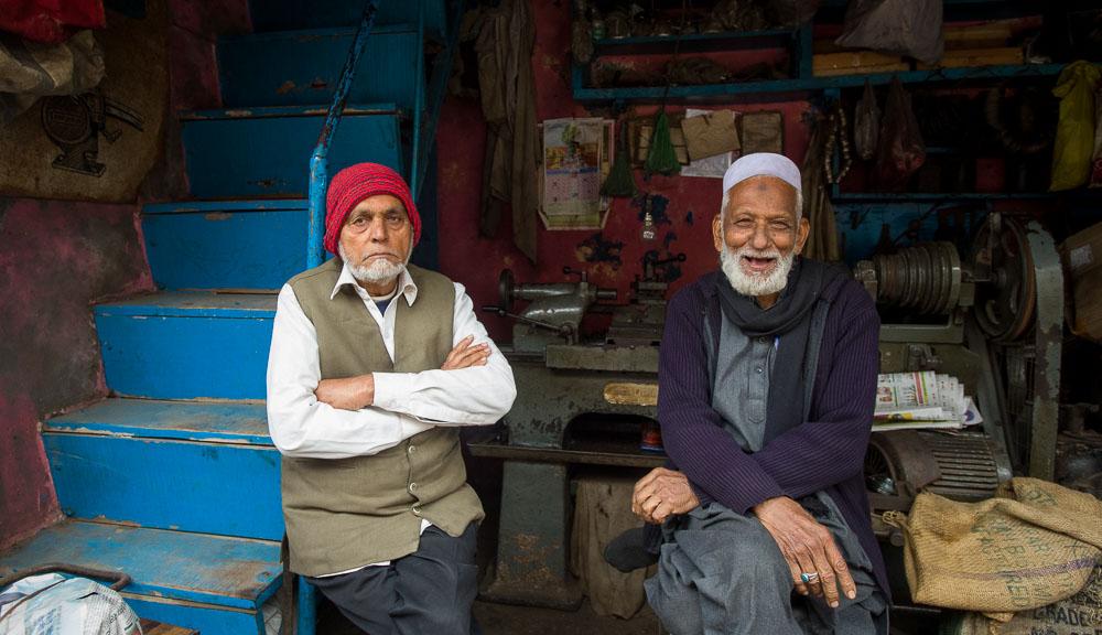 Reisfotografie dorpje India