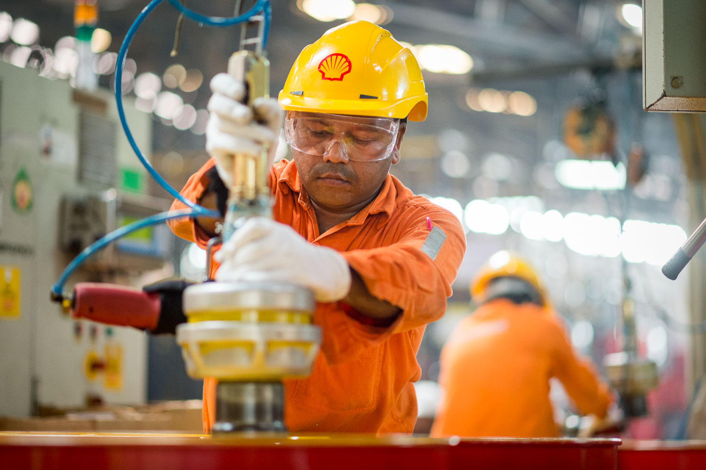 Industriele-fotografie Shell fabriek India