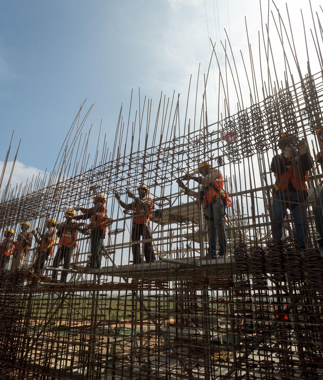 Industriele-fotografie Shell bouwterrein
