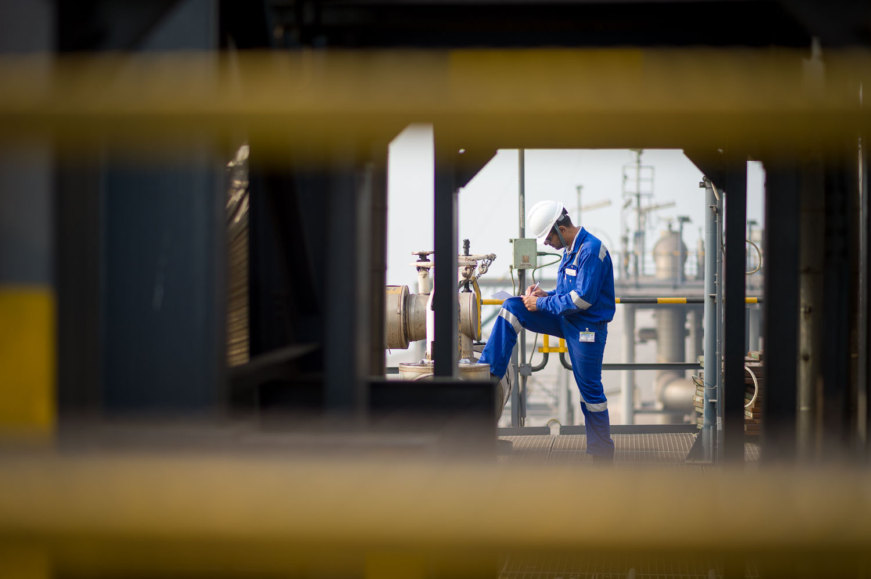 Industriele-fotografie Shell GTL plant India