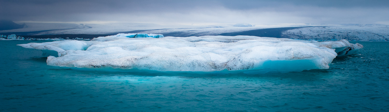 Jökulsárlón. Gletcher meer in IJsland.
