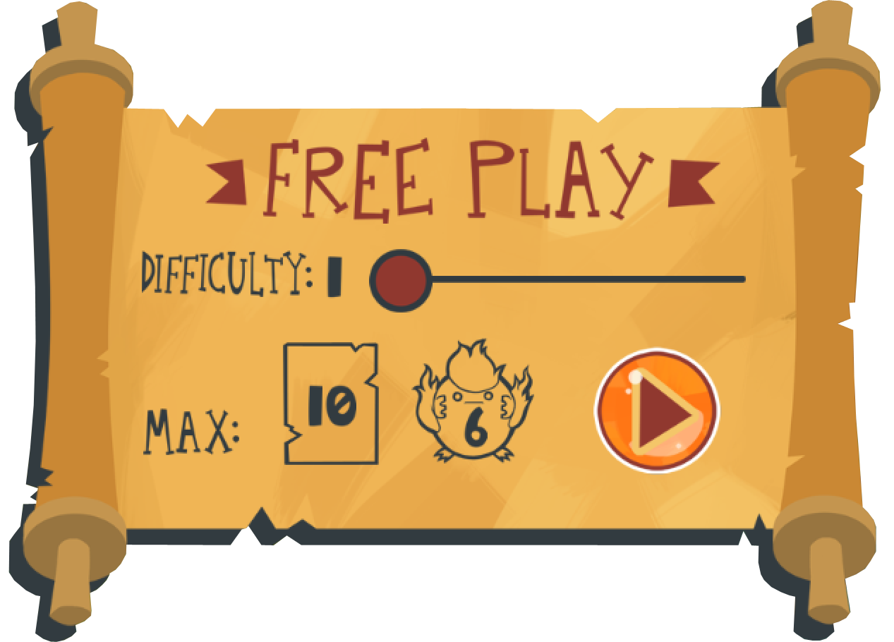 Free Play menu from The Counting Kingdom, math game for kids