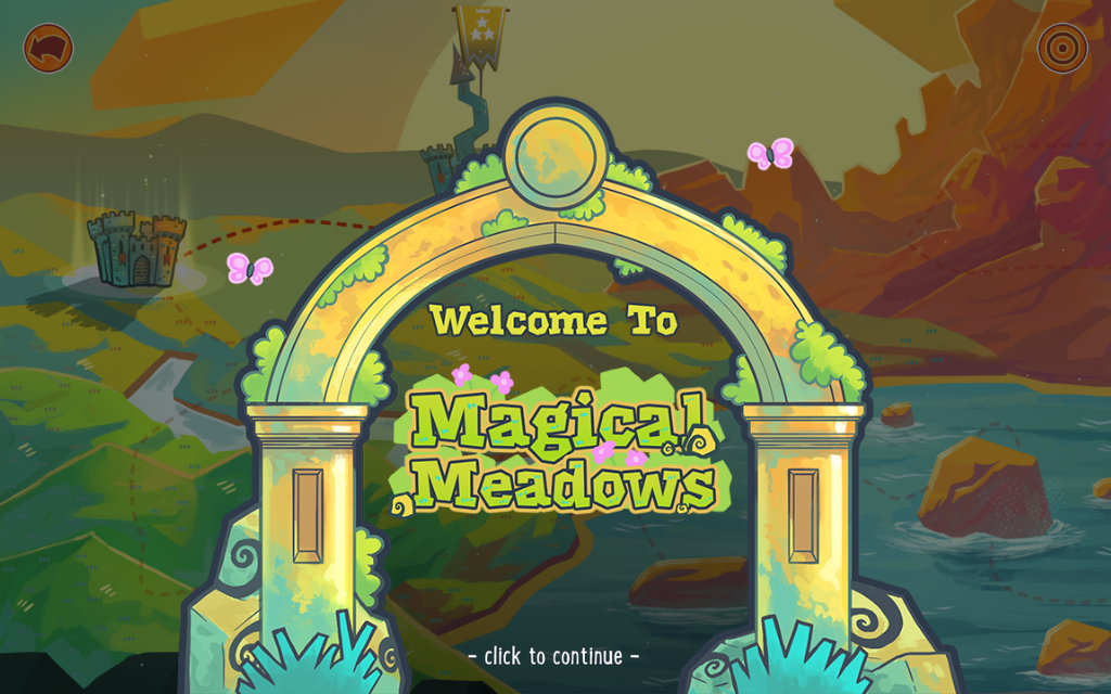 Gate for Magical Meadows in The Counting Kingdom - math game for kids