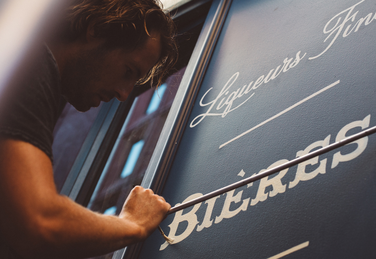Store front design and sign-painting for La Buvette bar