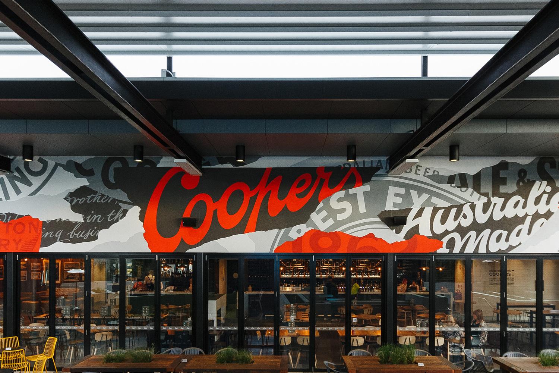 Coopers Brewery Mural, 2016. Brand development by studioband. Photography Jono VDK