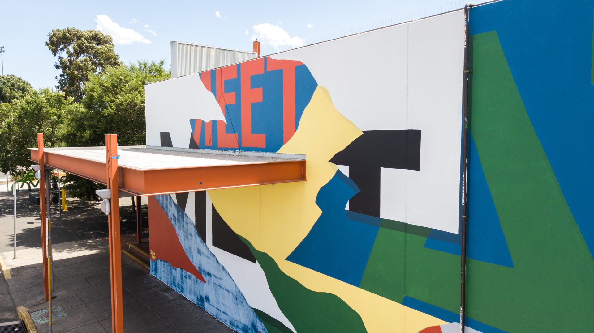 Market,  2018, 30m x 5 metres, Preston Market Vic. Commission by Backwoods Gallery and Raft Studio